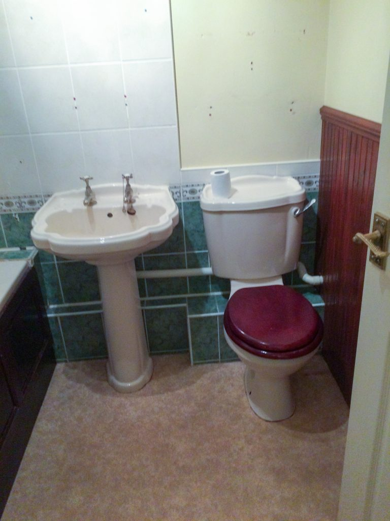 New Milton Bathroom Before Renovation